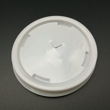 compostable plastic lid with circular straw entry for party paper cup